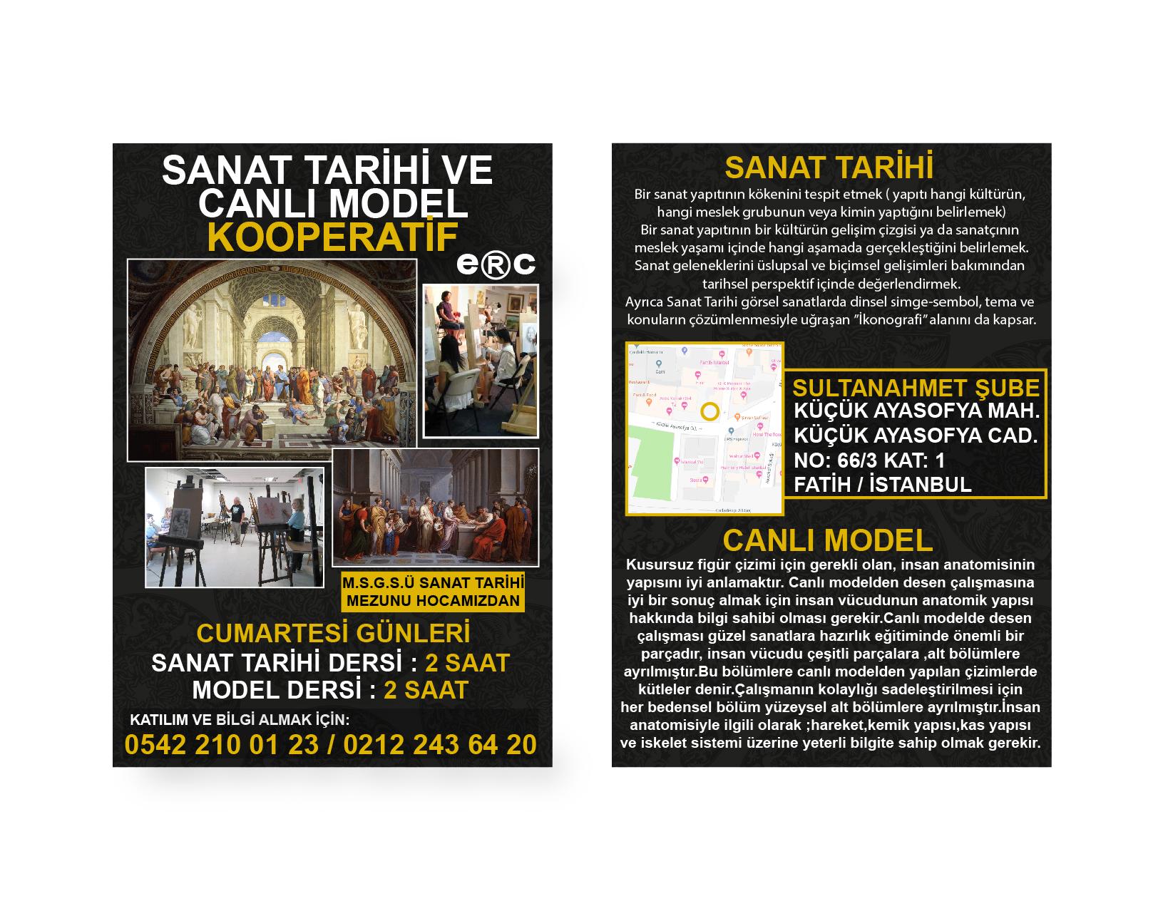 SANAT TARİHİ CANLI MODEL AFİŞ 11