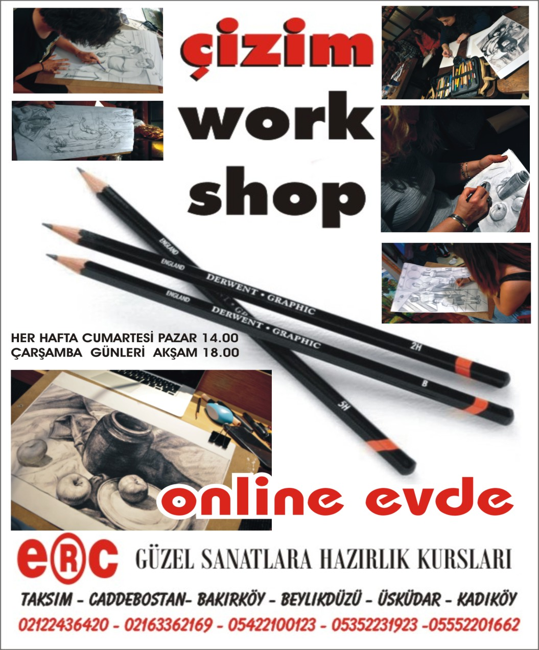 ÇİZİM WORKSHOP güzel sanatlara hazırlık geniş